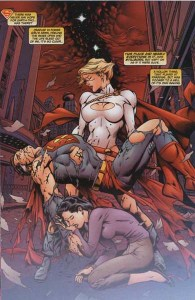 Interior art from Adventures Of Superman #649, part of the Infinite Crisis crossover.