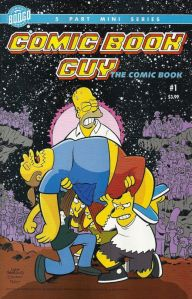 A Simpsons Comic Book Guy homage, even down to the font of the title!