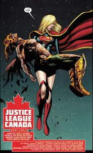 Interior art from Justice League United #3