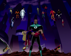 Screen shot from Series 2, Episode 10 of Justice League United