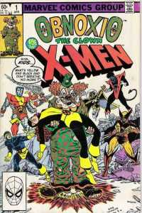 Cover from Obnoxio The Clown vs The X-Men. This is another issue that pre-dates COIE #7