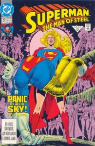 This is the Matrix Supergirl holding the alien called Draaga.
